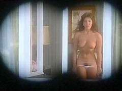 Vintage aunty stripping for neighbour...