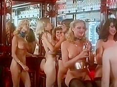 Naked disco vintage 70s blonde dance tease...
