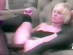 Bond whore in classic porn flick rides cock...