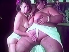 Gigantic overweight huge black lesbian licks fucking white...