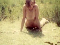 Vintage naked girl outdoors 1960s...