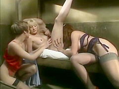 Fabulous lesbian vintage movie with charlotte stephie and...