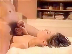 Retro hairy blonde fucked with facial eat sperm...