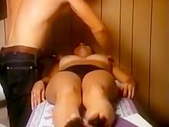 Vintage busty woman in panty massage clip loop...
